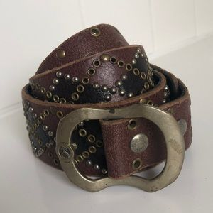 Balthazar distressed leather belt